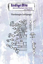 Fandangle Lollipops A6 Red Rubber Stamp by Kay Halliwell-Sutton